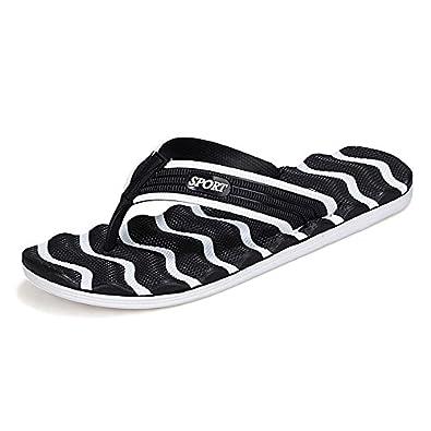 6962922e017d Select options to buy. UNN Summer slippers men striped flip flops Flat  Sandals Shoes Outdoor Casual Walking Beach Sandals