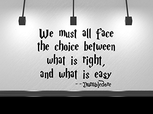 We must all face the choice between doing what is right and