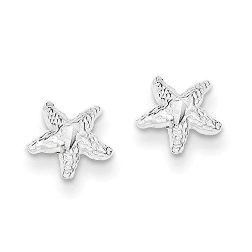 Sterling Silver Starfish Mini Earrings (Earrings Mini Starfish)