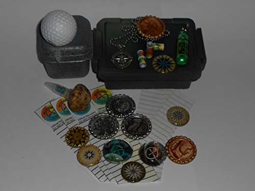 Geocache Container Set - Five Cache Containers with Swag Trade Items & FTF Prizes