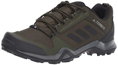 adidas outdoor Men's Terrex AX3 Hiking Boot, Night Cargo/Black/raw Khaki, 11 M US