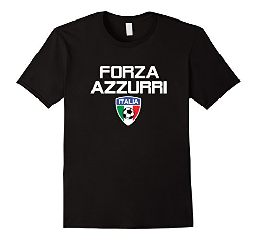Mens ITALIA CALCIO TSHIRT FORZA AZZURE FOOTBALL BLUE MAN WOMAN 2XL ()