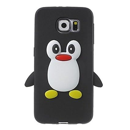 Carcasa Silicona Cartoon pingüino para Smartphone – Galaxy S3 – S4 – S5 – iPhone 4/4S – 5 C – 5/5S – 6 – iPod Touch 5 – iPod Nano 7, compatible con ...