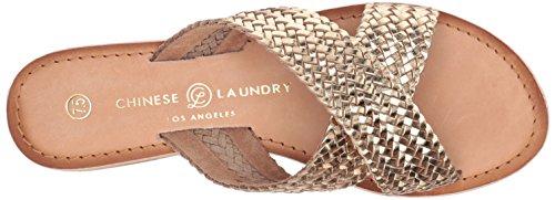 Chinese Laundry Kvinners Populær Sklie Sandal Gull Lær