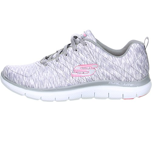 Grey White Femme Reflection Appeal 0 Flex Skechers Baskets 2 8z0ppw