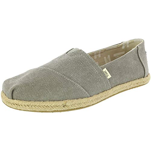TOMS Women's Seasonal Classics Drizzle Grey Washed Canvas Rope Sole Loafer ()