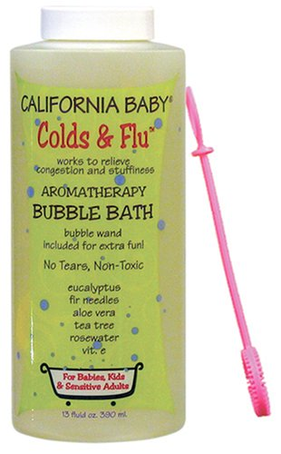 California Baby Bubble Bath- Colds & Flu, 13 oz (Eucalyptus ease (for tranquil relief))