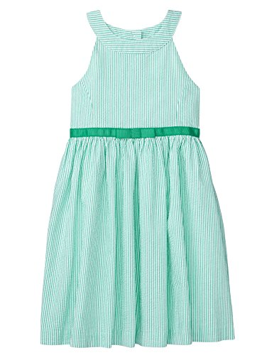 (Gymboree Girls' Little Sleveless Seersucker Dress, Spring Green Stripe 5)