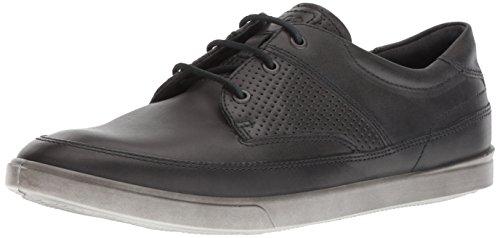 ECCO Men's Collin Nautical Sneaker, Moonless/Gray Perf, 11-11.5 M US]()