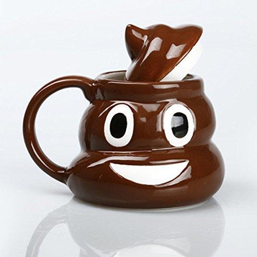 ABOGALE POOP Mug/ FUNNY Novelty Emoji Coffee Cup Coffee Ceramic Mug 12-14 Oz Emoji Mug