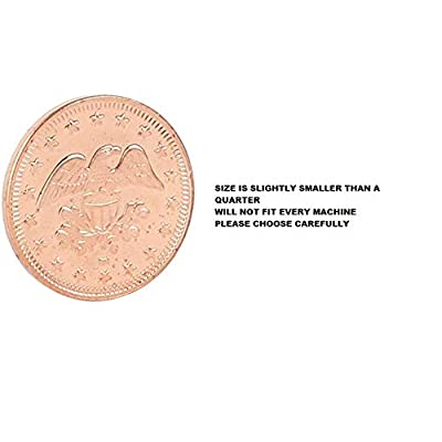 Metal Copper Coins Pack of 50 Great as Tokens for Arcade Games or Prizes by MT Products – Size is Slightly Smaller Than a Quarter 0.900