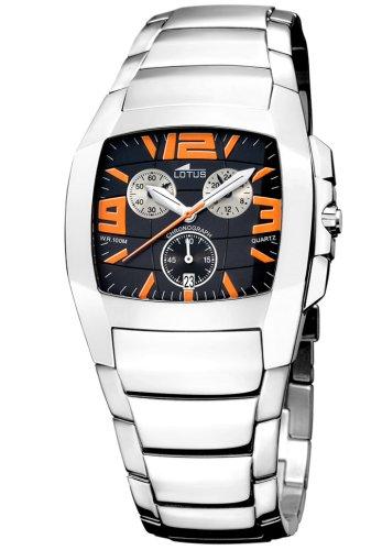 Lotus 15313-C - Reloj cronógrafo de caballero de cuarzo con correa de acero inoxidable plateada: Amazon.es: Relojes