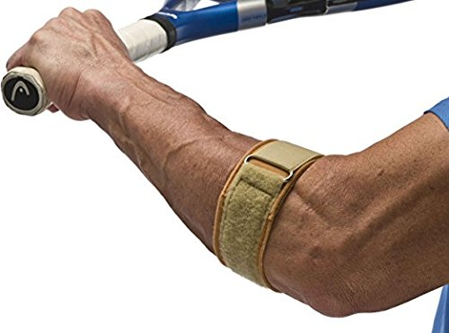 Cho-Pat Tennis Elbow Support Strap - Comfortable, Adjustable, Targeted Forearm Support (Medium, 10.5