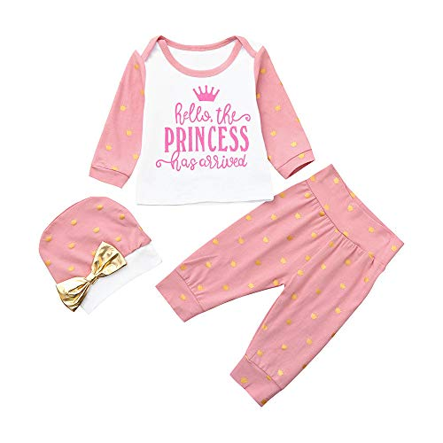 G-Real Toddler Infant Baby Girls New Cute Letter Princess Print T-Shirt +Pants Outfits