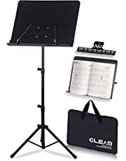 $24 » GLEAM Sheet Music Stand - 2 in 1 Dual-Use Desktop Book Stand Metal with Carrying Bag