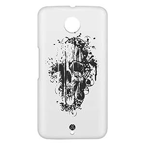 Loud Universe Motorola Nexus 6 3D Wrap Around Skull Print Cover - White