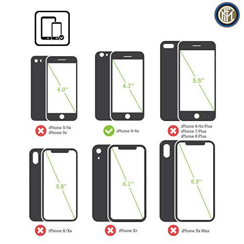 Head Case Designs Ufficiale Inter Milan Nero E Blu 2017/18 Cresta Cover in Pelle a Portafoglio Compatibile con iPhone 6 / iPhone 6s