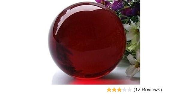 AA Asian Rare Natural Quartz Red Magic Crystal Healing Ball Sphere 40mm Stand