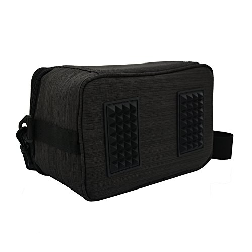 KINGMAS Travel Bag Carry Case for Nintendo Switch or Dock With Accessory Storage bag (Dark Grey)