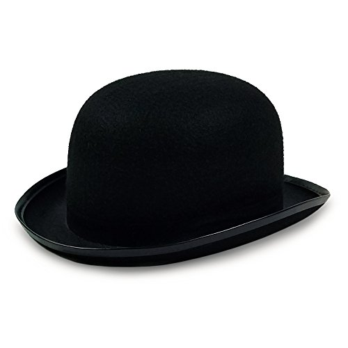 Colonel Pickles Novelties Derby Hat - Bowler Hat - Black for Men Women Boys and Girls Vintage Costumes