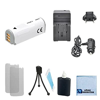 NB-9L High-Capacity Battery + Car/Home Charger For Canon PowerShot N, SD4500 IS, Canon ELPH 520 HS, ELPH 510 HS, ELPH 530 HS, Canon IXUS 1000 HS, IXY 50S, N2 & More.. Cameras + Complete Starter Kit