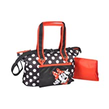 "Minnie Mouse ""Bow Adjustment"" Large Diaper Bag - black, one size"