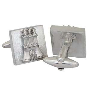 Gemelos de plata{925} cuadrado Hamburg hecha a mano