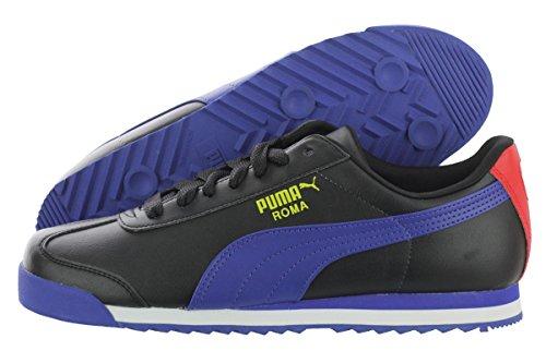 Puma Mens Roma Basic Noir / Surfer Sur Le Web / Sneaker Jaune Vibrant 7.5 D (m)