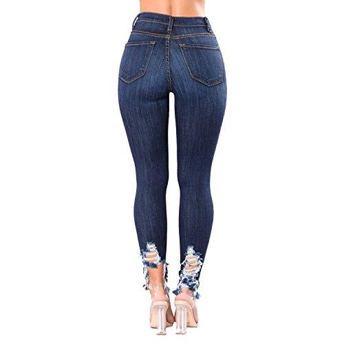 Longue Casual Skinny Jeans Taille Trous Leggings Dchir Femme Pantalon Haute Denim Eagerness Fashion Crayon wtTHFO