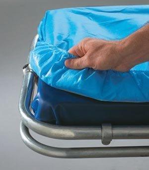 Graham Medical 53378 Snug Fit Nonwoven Barrier Sheet, 30'' Width, 84'' Length, Blue (Pack of 50)