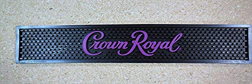 Crown Royal Bar Mat - Purple and Black -