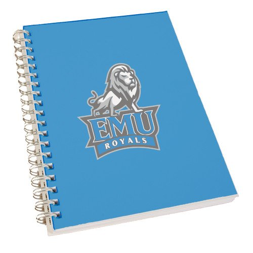 Eastern Mennonite Clear 7 x 10 Spiral Journal Notebook 'Official Logo' by CollegeFanGear