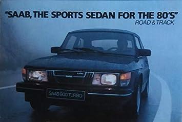 1983 SAAB 900 TURBO SPORTS SEDAN VINTAGE FACTORY ORIGINAL COLOR POSTCARD - USA - GREAT POST