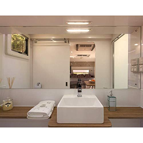 Dream Lighting 12V Caravan Lights Strip Interior Lighting Bar Kitchen Ceiling Cabinet Motorhome Boat 150MM Slim Line 2 Settings Warm White