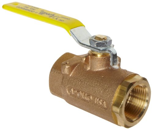 Apollo 71-100 Series Bronze Ball Valve with Mounting Pad, Two Piece, Inline, Lever, 1