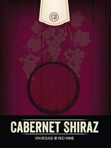 Cabernet Shiraz Wine Bottle Labels