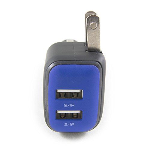 DualX Dual USB Charger for Car And Home by RapidX - Blue