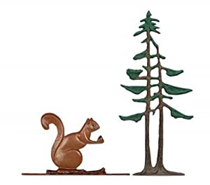 "Rooftop 30"" Squirrel and Pines Weathervane Finish: Color"