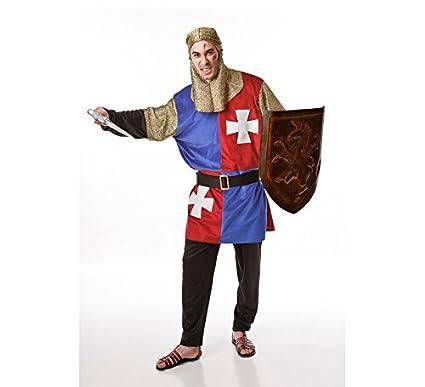 Disfraz para hombres de Caballero Medieval Azul: Amazon.es ...