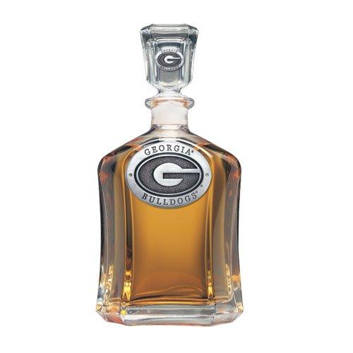 Georgia Bulldogs Glass Capitol Decanter (Spirit Holder) 24 oz - NCAA College ()