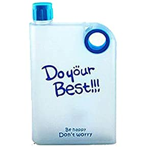 Rectangular Square Water Bottle / Plastic Portable Water Bottle for School Activity Outdoor Sports (Blue)