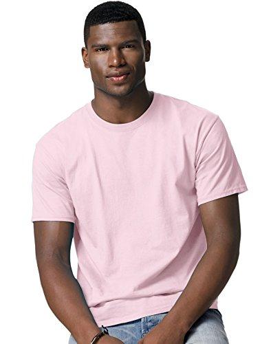 Hanes mens 6.1 oz. Tagless T-Shirt(5250)-Pale Pink-4XL ()