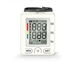 Blood Pressure Monitor, AlphaMed Fully Automatic Digital Wrist Cuff BP Monitor-Accurate, Safe and Perfect for Home Use, Two Users Mode, Intelligent LCD Display, White