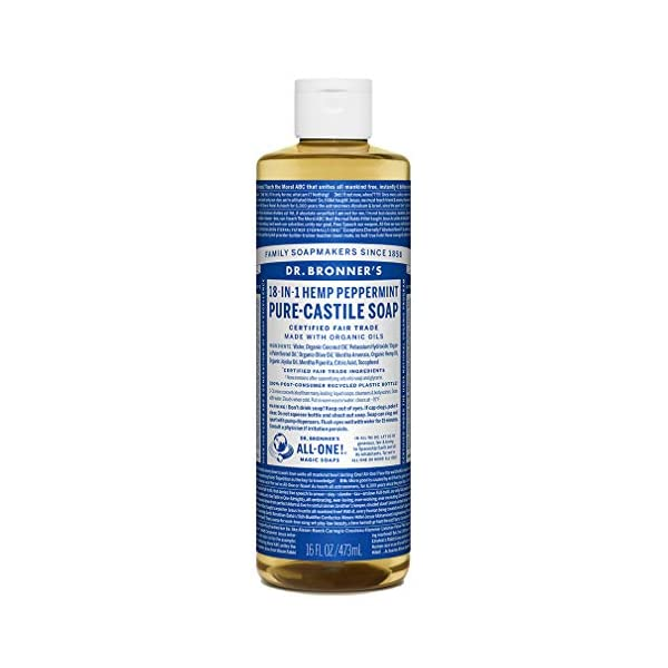 Dr. Bronner's Peppermint Castile Soap Made with Organic Ingredients 473 ml