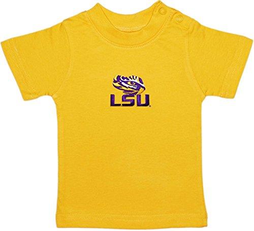 Louisiana State University LSU Tiger Eye Baby and Toddler Short Sleeve T-Shirt Gold