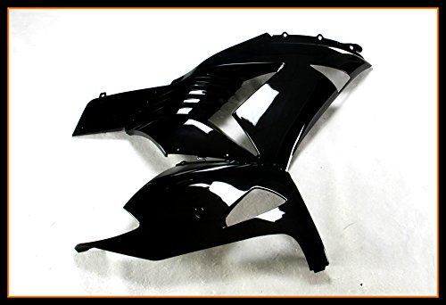 Protek Painted ABS Plastic Injection Mold Full Fairings Set Bodywork Cowl for 2006 2007 2008 2009 2010 2011 Kawasaki Ninja ZX14 ZX1400C ZX1400A Glossy Black