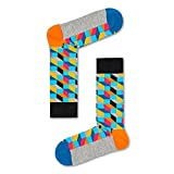 Happy Socks Unisex Directions Crew Socks -Blue / Yellow