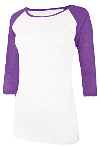 TL Women's 3/4 Sleeve or Short Sleeve Stretchy Raglan Baseba