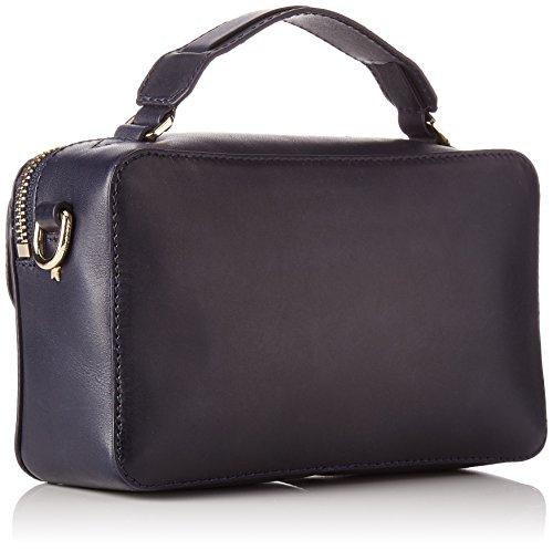 Mini Azul Mujer Over cm Navy Hardware Tommy Fashion H x W L x X Tommy 5x3x10 para Bandolera Hilfiger Bolso Leather UxSIwUvqF