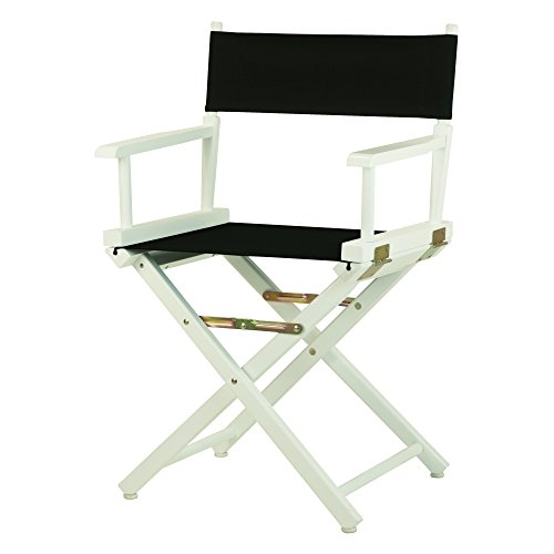 Casual Home 18'' Director's Chair White Frame with Black Canvas by Casual Home